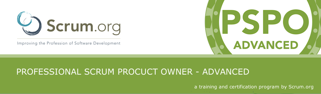 Scrum.org Professional Scrum Product Owner - Advanced (PSPO-A)